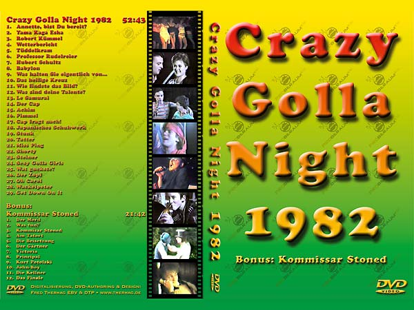 DVD Produktion Crazy Golla Night 1982
